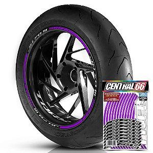 Adesivo Friso de Roda M1 +  Palavra Traxx JH 70 lll + Interno P TRAXX - Filete Roxo