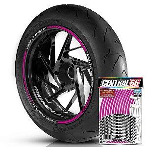 Adesivo Friso de Roda M1 +  Palavra TRE 899 K + Interno P Benelli - Filete Rosa