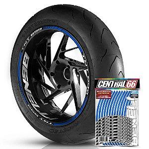 Adesivo Friso de Roda M1 +  Palavra TNT 899 + Interno G Benelli - Filete Azul Refletivo