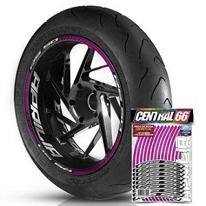 Adesivo Friso de Roda M1 +  Palavra RS 50 + Interno G Aprilia - Filete Rosa