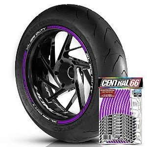 Adesivo Friso de Roda M1 +  Palavra XL 125 DUTY + Interno P Honda - Filete Roxo