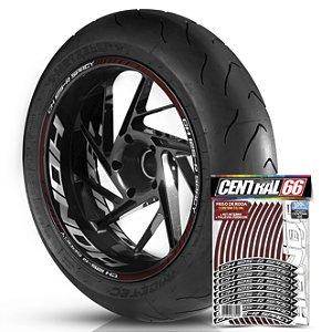 Adesivo Friso de Roda M1 +  Palavra CH 125 R SPACY + Interno G Honda - Filete Vinho