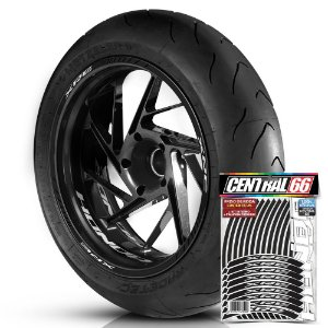 Adesivo Friso de Roda M1 +  Palavra XRE + Interno P Honda - Filete Preto