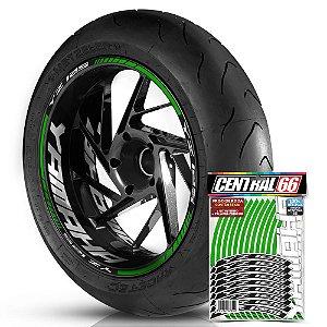 Adesivo Friso de Roda M1 +  Palavra YZ 125 + Interno G Yamaha - Filete Verde Refletivo