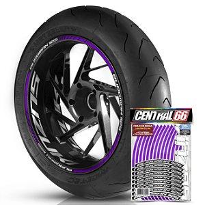 Adesivo Friso de Roda M1 +  Palavra BURGMAN i125 + Interno G Suzuki - Filete Roxo