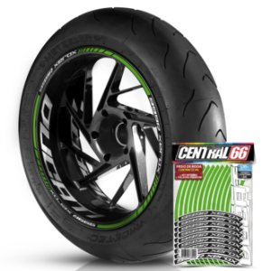 Adesivo Friso de Roda M1 +  Palavra 999 R XEROX + Interno G Ducati - Filete Verde Refletivo