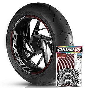 Adesivo Friso de Roda M1 +  Palavra 1199 PANIGALE S SENNA + Interno G Ducati - Filete Vinho