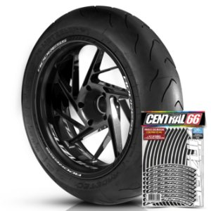 Adesivo Friso de Roda M1 +  Palavra ADDRESS + Interno P Suzuki - Filete Preto