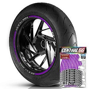 Adesivo Friso de Roda M1 +  Palavra ATV 50 + Interno P Adly - Filete Roxo
