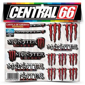 Cartela Patrocinios Resinada Monster Vermelho