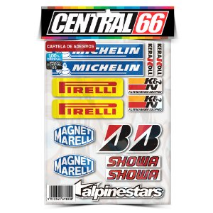 Cartela Adesivos Patrocinios Pirelli Individual