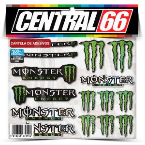 Cartela Adesivos Patrocinios Monstro Verde Individual