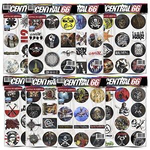 Kit 8 Cartelas - Musica Rock M2 Adesivos Stickers