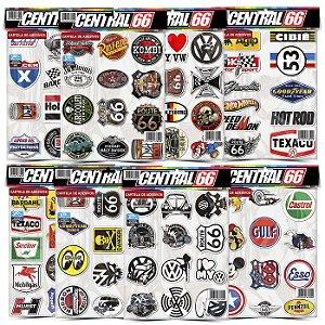 Kit 8 Cartelas - Logos Antigos M2 Adesivos Stickers