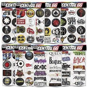 Kit 8 Cartelas - Musica Rock M1 Adesivos Stickers