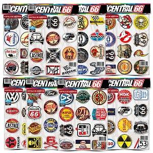 Kit 8 Cartelas - Logos Antigos M1 Adesivos Stickers