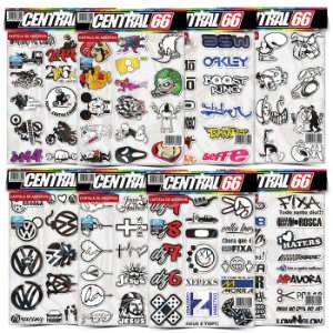 Kit 8 Cartelas - Tuning M2 - Mario, La Casa, Religião Adesivos Stickers