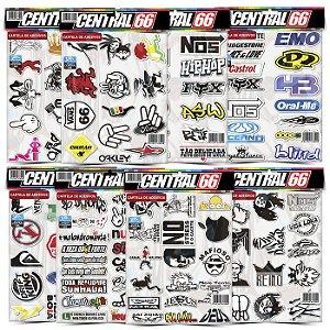Kit 8 Cartelas - Tuning M1 - Apple, Homer, Nutallo Adesivos Stickers