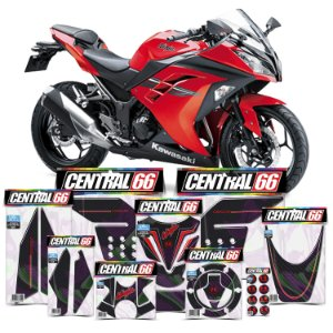 Kit Protetores Resinados Kawasaki Ninja 300 Carbono Vermelho