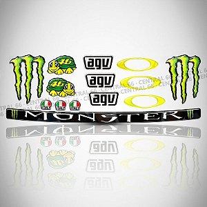 Cartela Valentino Rossi Moto GP Adesivos Resinados
