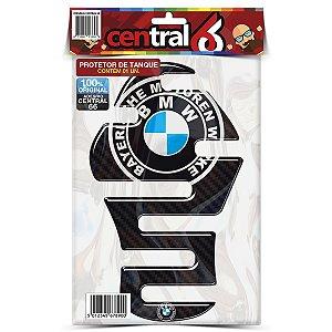 Protetor de Tanque Tankpad BMW Universal Logo Alemão Resinado Emborrachado Alto Relevo