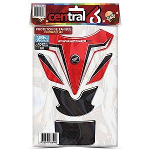 Protetor de Tanque Tankpad Honda CB 250R Vermelho Resinado Emborrachado Alto Relevo