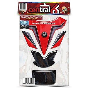Protetor de Tanque Tankpad Honda CB 500X Vermelho Resinado Emborrachado Alto Relevo