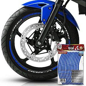 Frisos de Roda Premium Harley Davidson V-ROD Refletivo Azul Filete