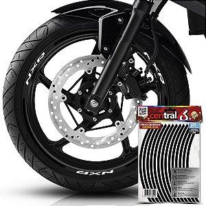 Frisos de Roda Premium Honda NXR Preto Filete
