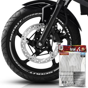Frisos de Roda Premium Indian SCOUT Branco Filete