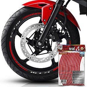 Frisos de Roda Premium KTM Refletivo Vermelho Filete