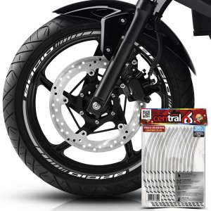 Frisos de Roda Premium Motorino BACIO Branco Filete