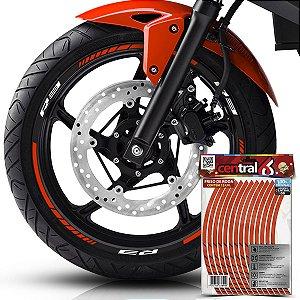 Frisos de Roda Premium R3 Refletivo Laranja Filete