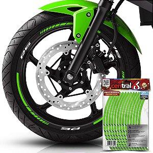 Frisos de Roda Premium R6 Refletivo Verde Filete