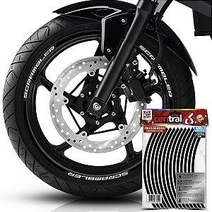 Frisos de Roda Premium Triumph SCRAMBLER Preto Filete
