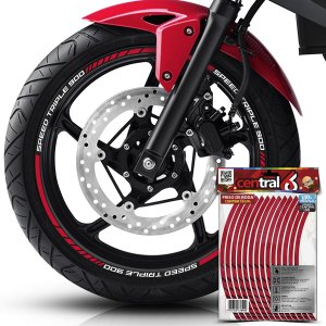 Frisos de Roda Premium Triumph SPEED TRIPLE 900 Vinho Filete