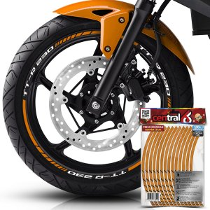 Frisos de Roda Premium Yamaha TT-R 230 Refletivo Dourado Filete