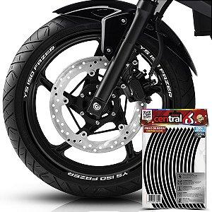 Frisos de Roda Premium Yamaha YS 150 FAZER Preto Filete