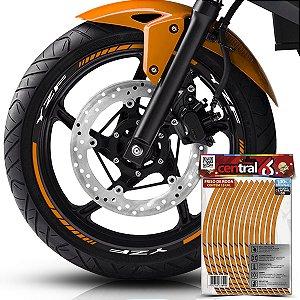 Frisos de Roda Premium YZF Refletivo Dourado Filete