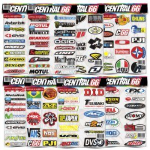 Kit 8 Cartelas Adesivos Motocross Patrocinios Tuning