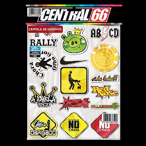 Cartela Adesivos Motocross M1 Individual Nº5 Patrocinios