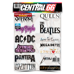 Cartela Adesivos Rock M1 Individual Nº4