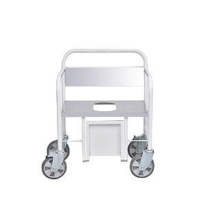 Cadeira de Rodas Para Banho Obeso Inox - Salutem Móveis Hospitalares