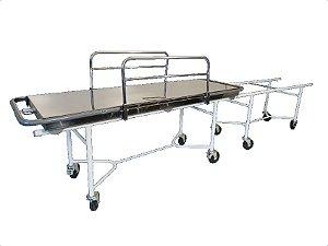 Carro para Transferência Leito em Inox Estrutura Epóxi - Salutem Móveis Hospitalares