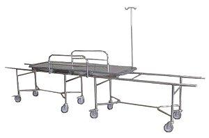 Carro para Transferência Totalmente em Aço Inox - Salutem Móveis Hospitalares