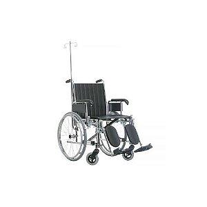 Cadeira de Rodas Com Suporte de Soro e Oxigênio - Ortopedia Jaguaribe