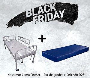 Kit Cama Fowler S-0180 + Par de Grades + Colchão D23