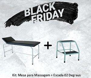 Kit Mesa Para Massagem S-0440 + Escada Dois Degraus Pintura Epóxi S-0470