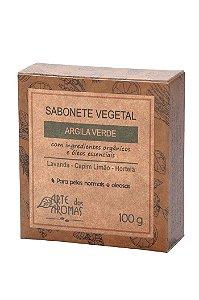 Sabonete vegano e natural em barra Arte dos Aromas - Argila verde 100g