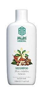 Shampoo vegano Multi Vegetal - Nogueira, cacau e baunilha 240ml